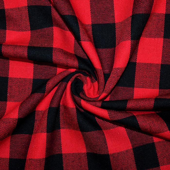 Flanela, karo, 18747-001, črno rdeča