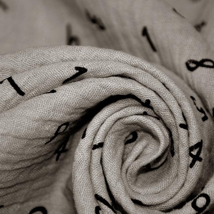 Tetra tkanina, dvostruka, brojevi, 18660, 052, bež