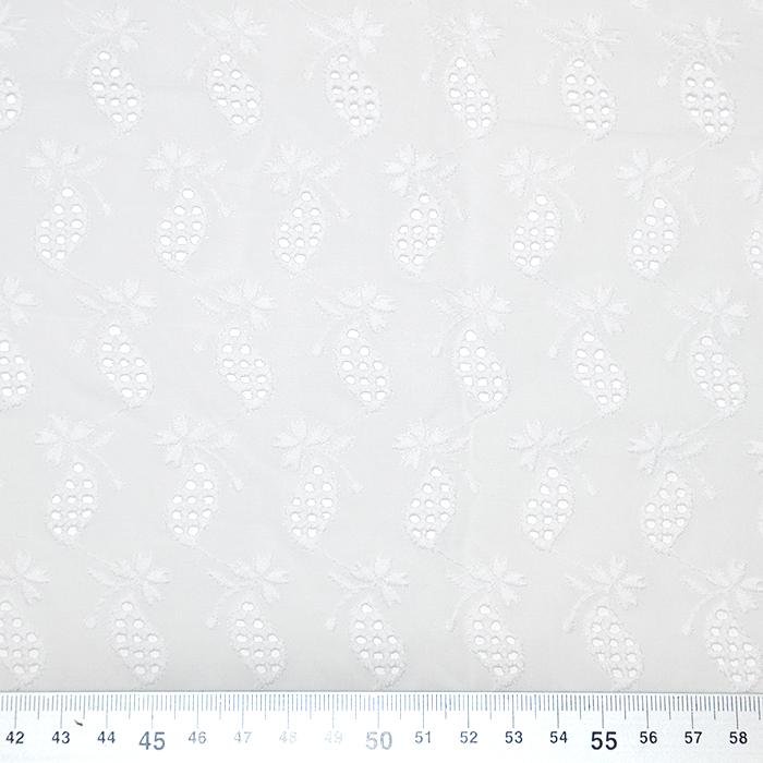 Bombaž, rišelje, sadje, 18778, bela