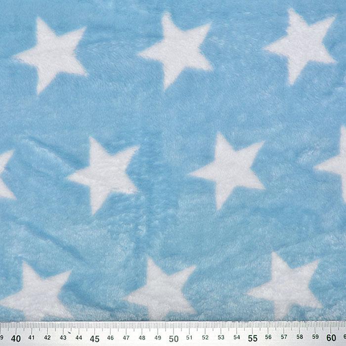 Velur coral, obojestranski, zvezde, 18844-5029, modra