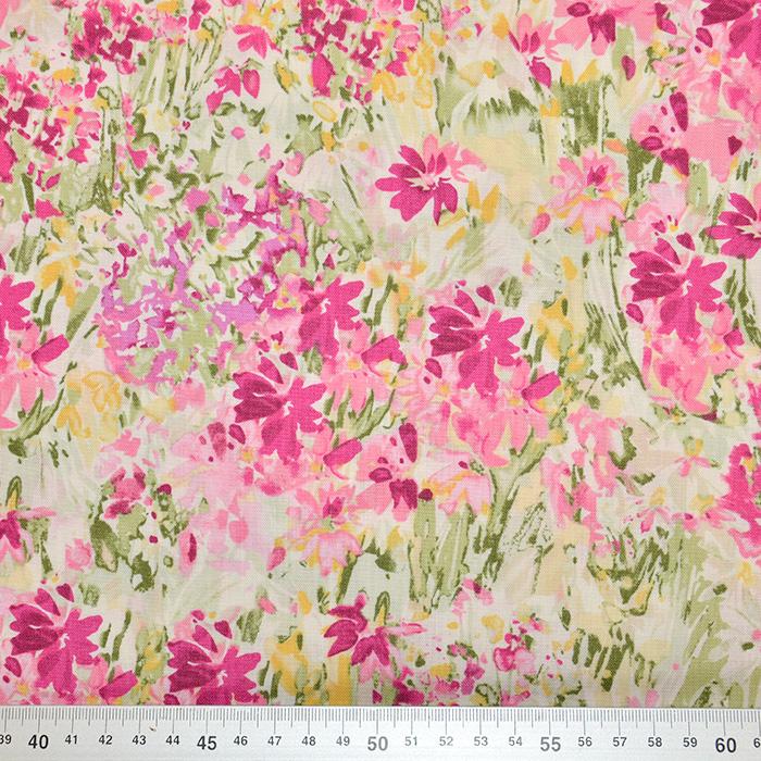 Bombaž, poplin, cvetlični, 17663-40