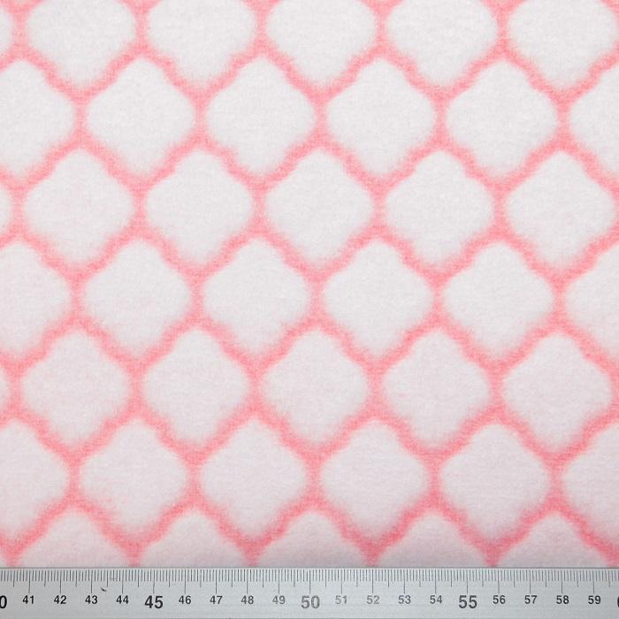 Velur coral, geometrijski, 18859-6, roza