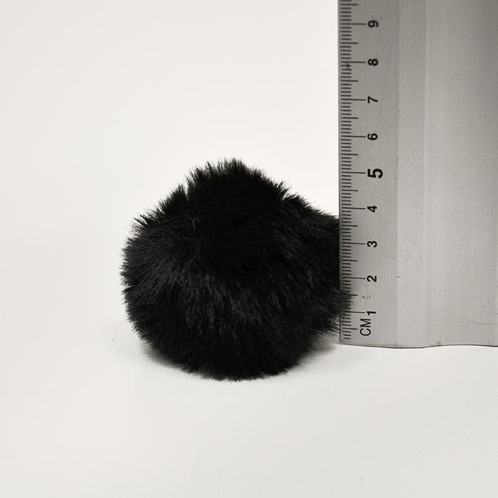Cof, umetno krzno, 6cm, 18890-002, črna