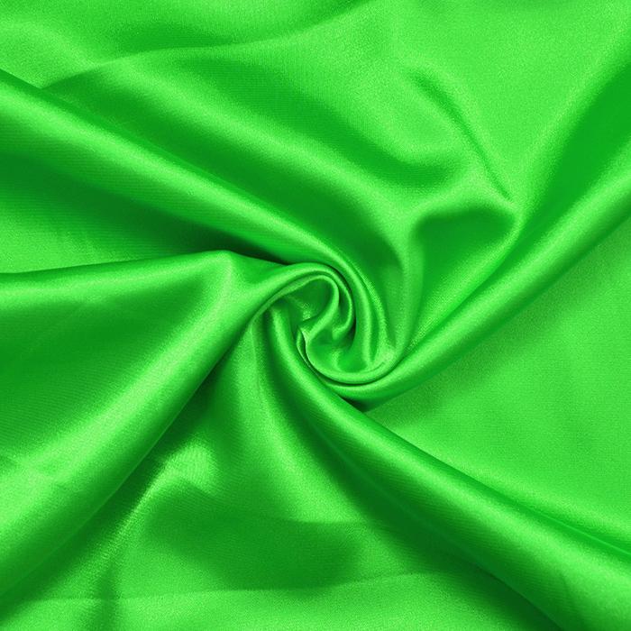 Saten, poliester, 3093-124A, zelena