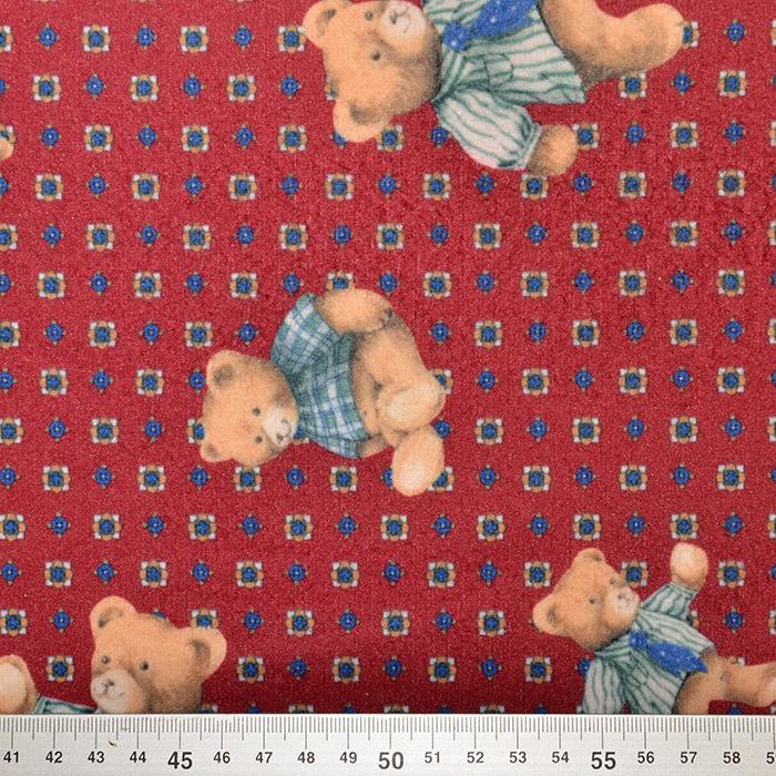 Flanela, bombaž, otroški, 18947-108, rdeča