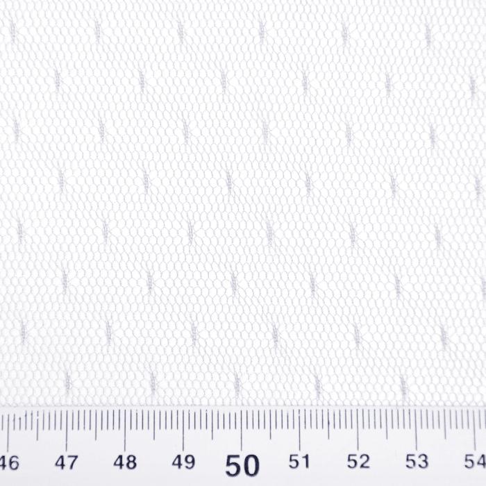 Mreža, prožna, pike, 19002-6, bela