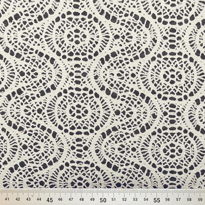 Pletivo, čipka, 18992-6, črno bela