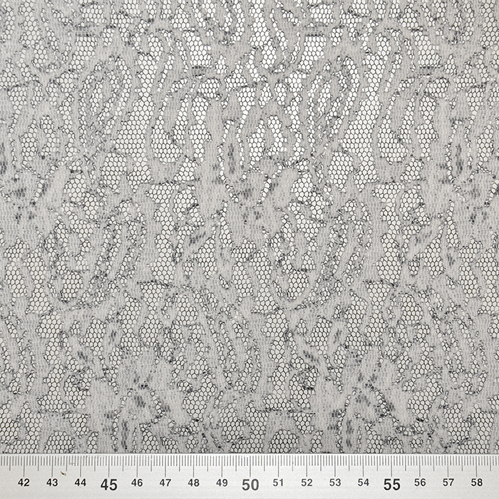 Čipka, elastična, 18992-11, črno bela