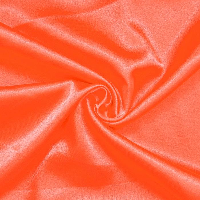 Saten, poliester, 3093-29, neon oranžna