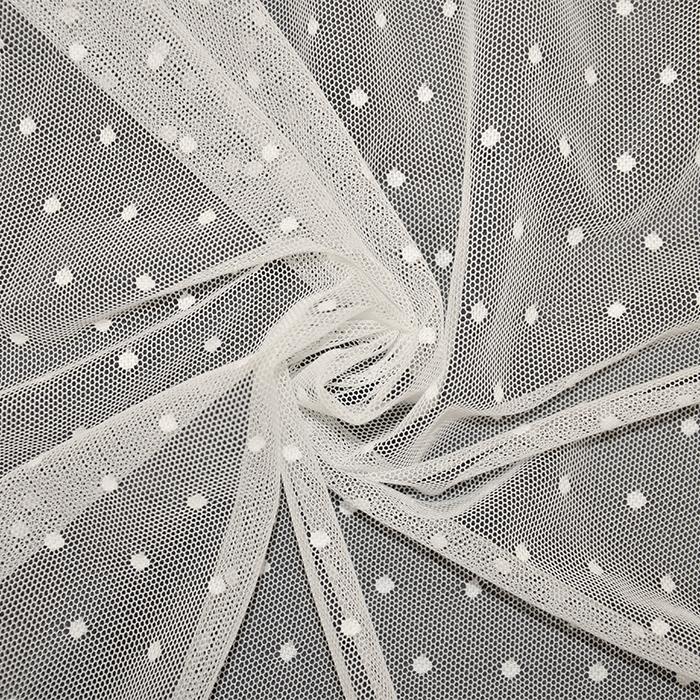 Mreža elastična, poliester, pike, 19007-015, smetana