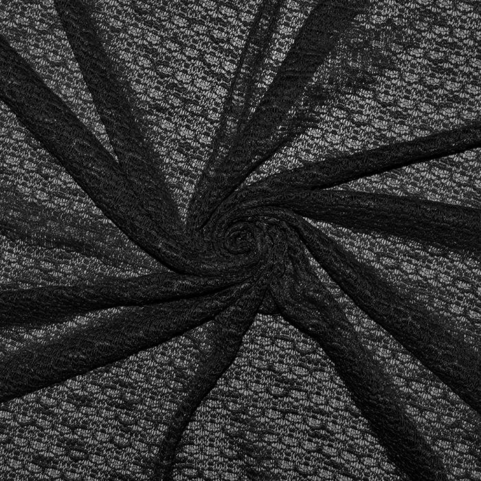 Pletivo, bukle, 18992-21, črna