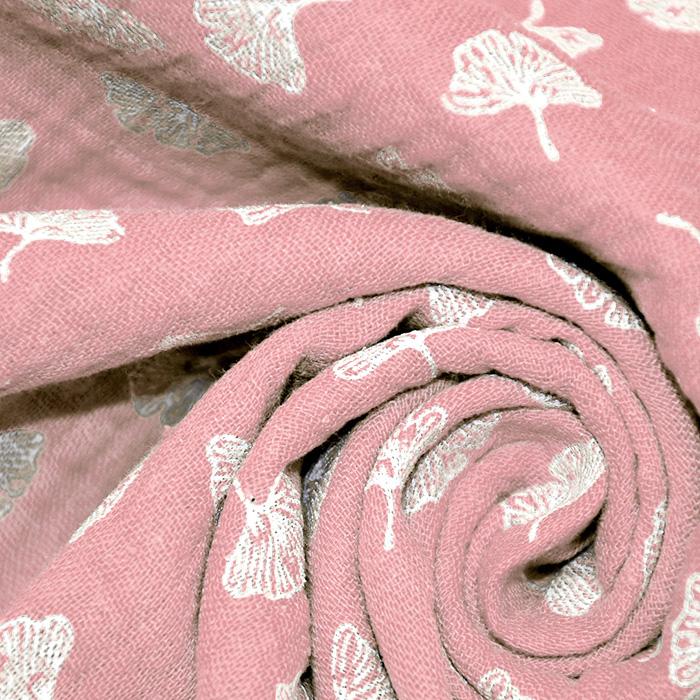 Tetra tkanina, dvojna, cvetlični, 19029-003, roza