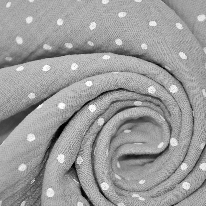 Tetra tkanina, dvojna, pikice, 19032-003, siva