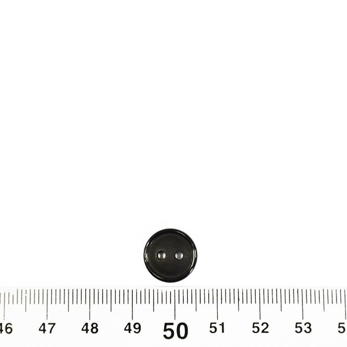 Gumb, klasični, črna, 13 mm, 2566-4