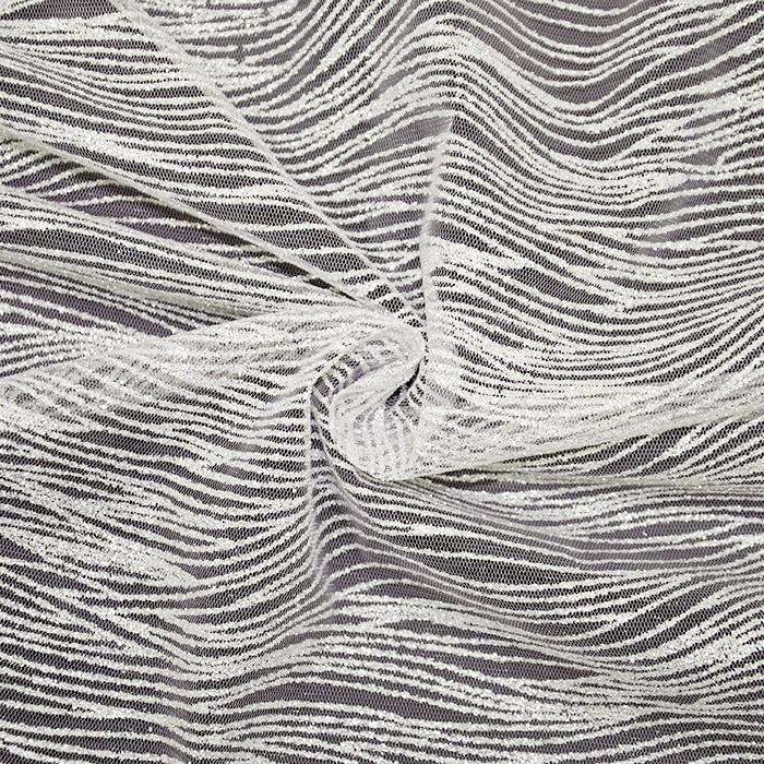 Bleščice na mrežici, 19037-4, kožna srebrna