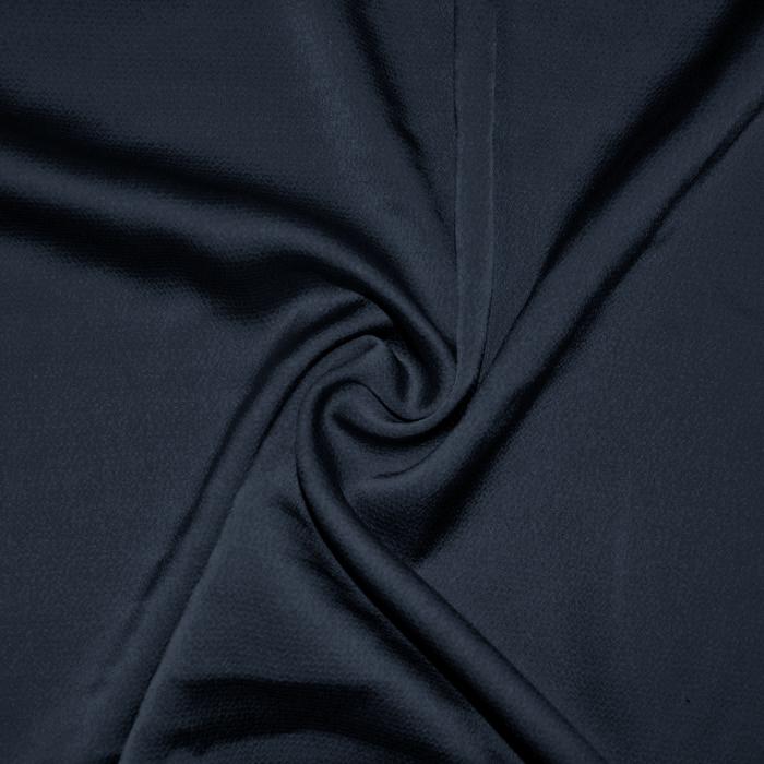 Saten krep, poliester, 18811-009, temno modra
