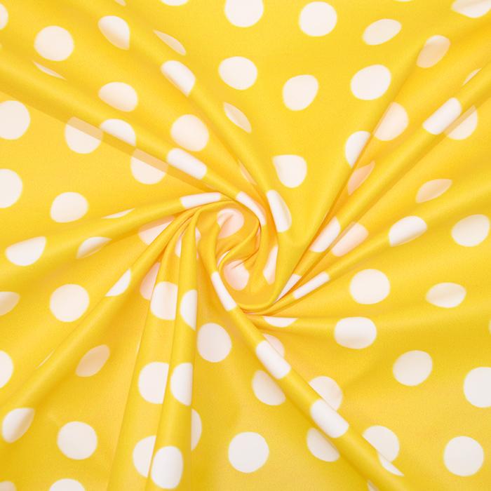 PVC za dežne plašče, pike, 19115-3003, rumena
