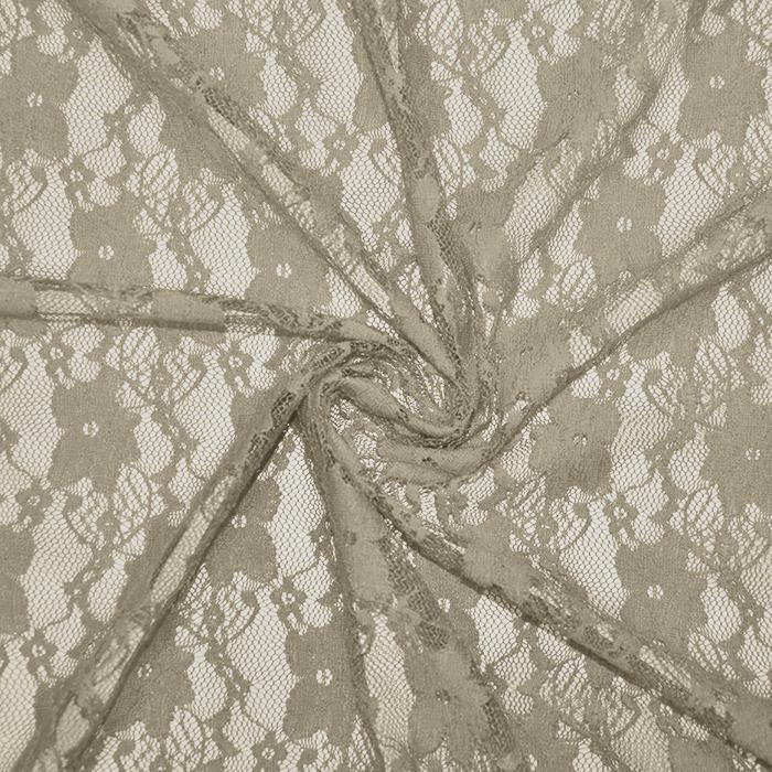 Čipka, elastična, cvetlični, 19138-052, bež