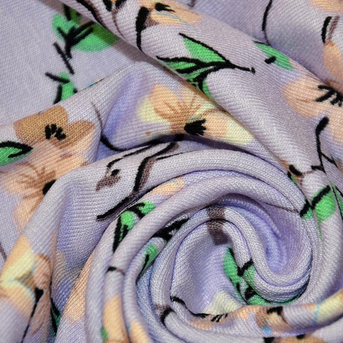 Jersey, viskoza, cvetlični, 19149-042, vijola