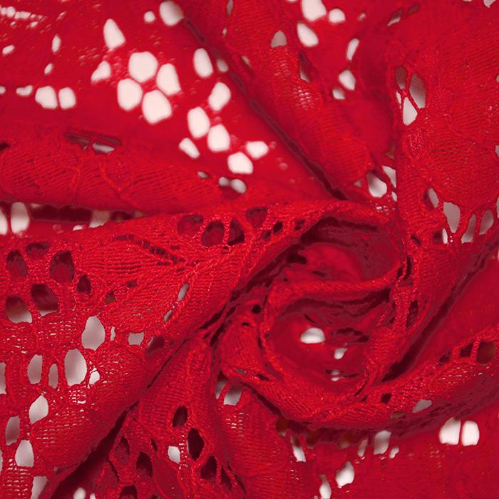 Čipka, prožna, 19156-015, rdeča