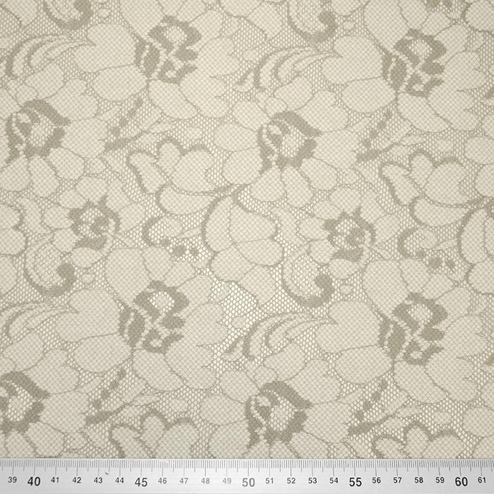 Čipka, elastična, cvetlični, 19168-052, bež