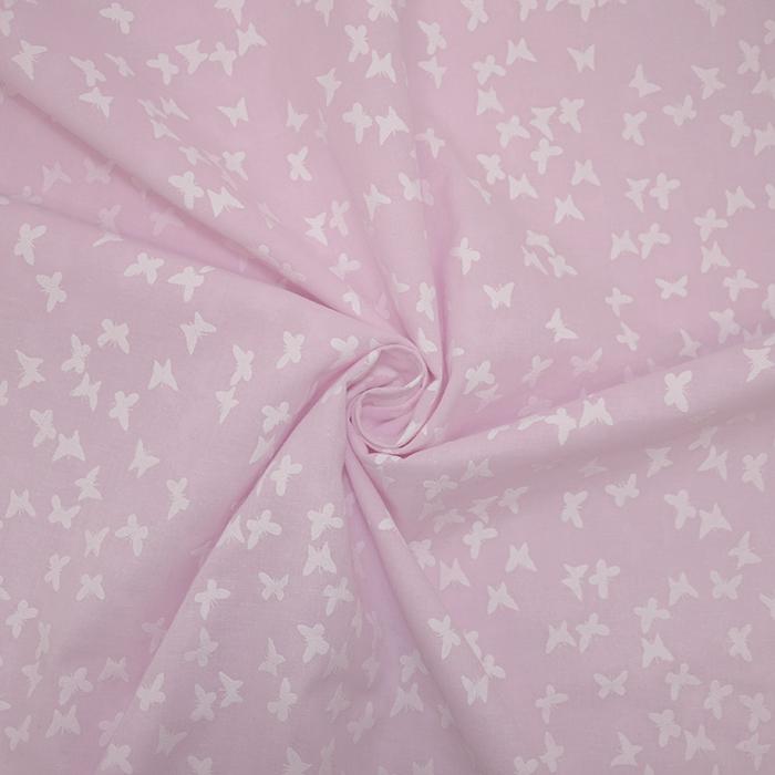 Bombaž, tanek, živalski, 19171-013, roza