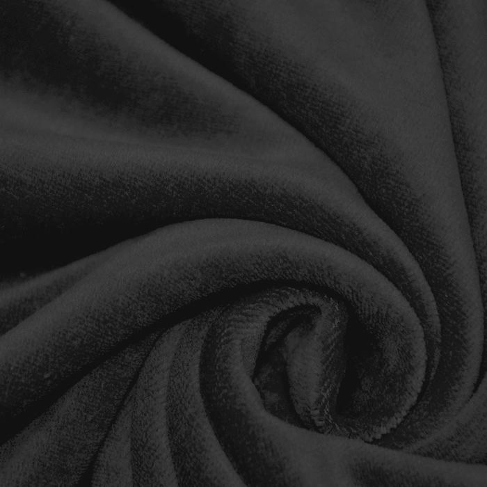 Pliš pamučni, 13348-069, crna