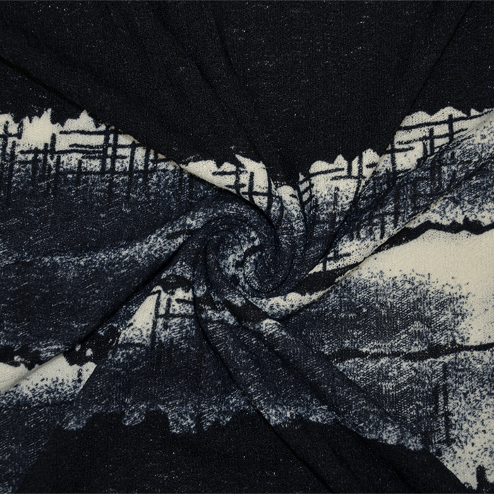 Pletivo, poliester, abstraktni, 19201-600
