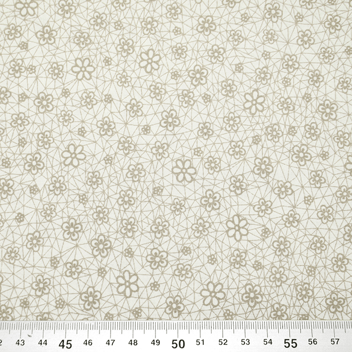 Bombaž, poplin, cvetlični, 18280-197, bež