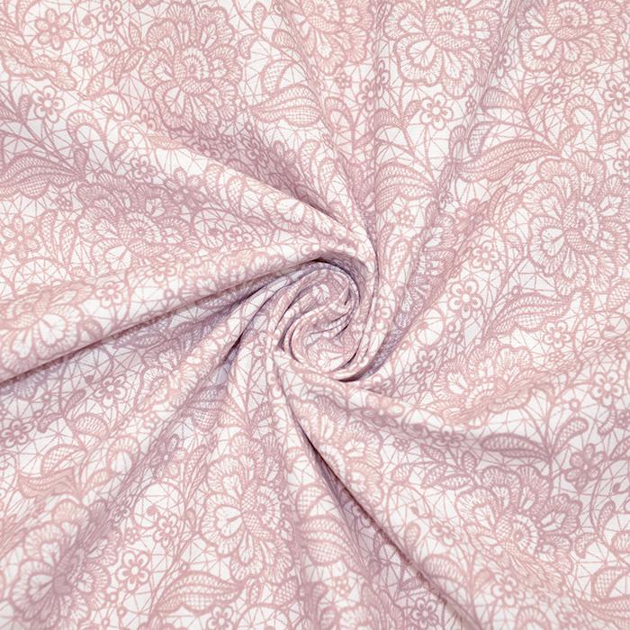 Bombaž, poplin, cvetlični, 18280-193, roza