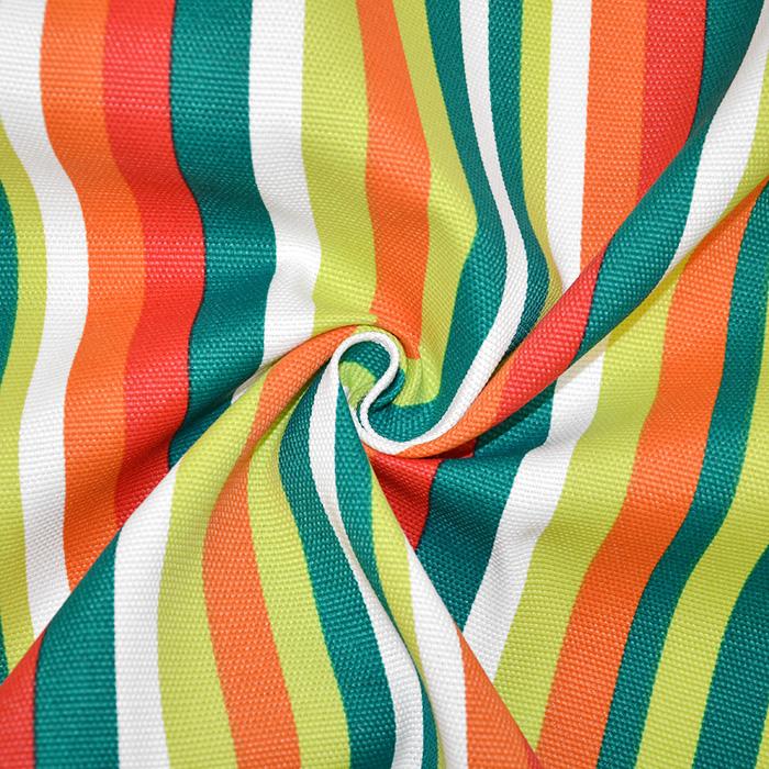 Deko, tisk, impregniran, črte, 19234-10, zeleno oranžna