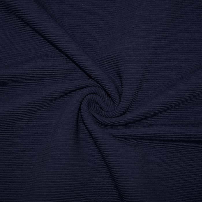 Pletivo, bombaž, rebrasto, 19310-600, temno modra