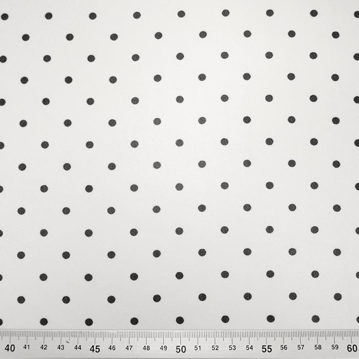 Šifon, poliester, pike, 19329-050, belo črna