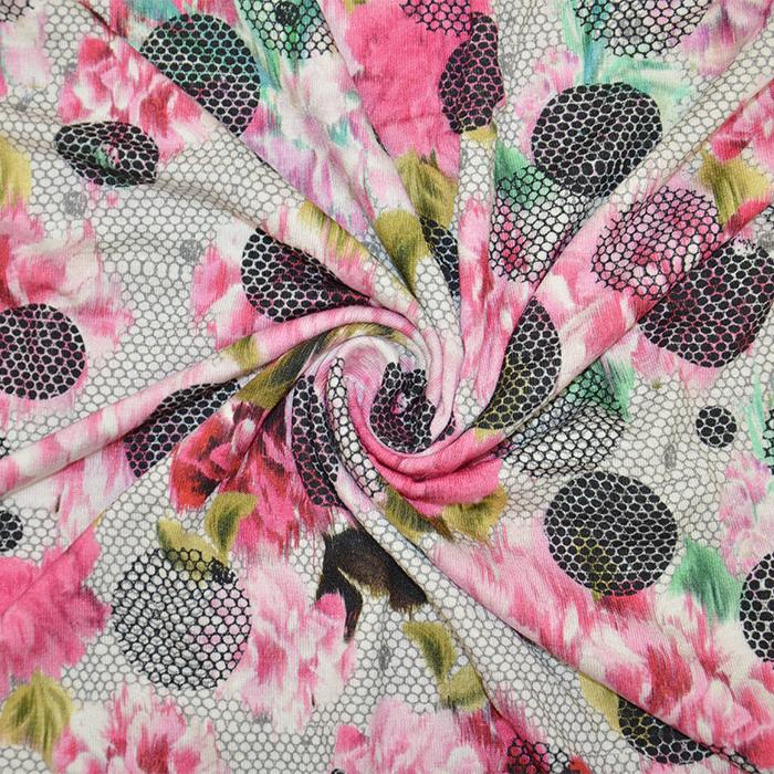 Jersey, viskoza, digital, cvetlični, 19389-3