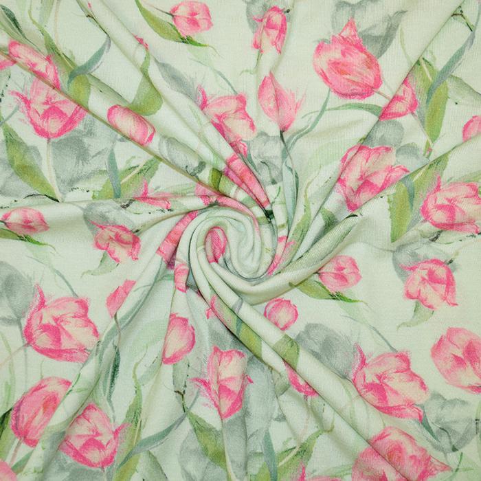 Jersey, viskoza, digital, cvetlični, 19389-19