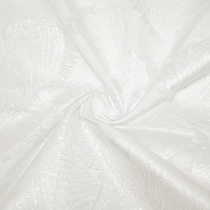 Žakard, školjke, 19414-8, bela