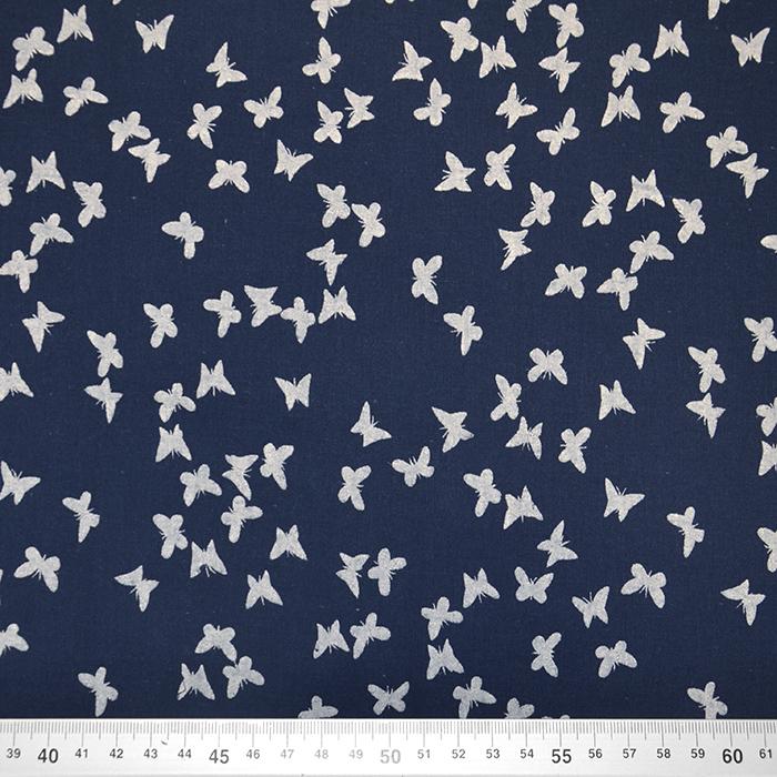 Bombaž, tanek, živalski, 19171-008, temno modra