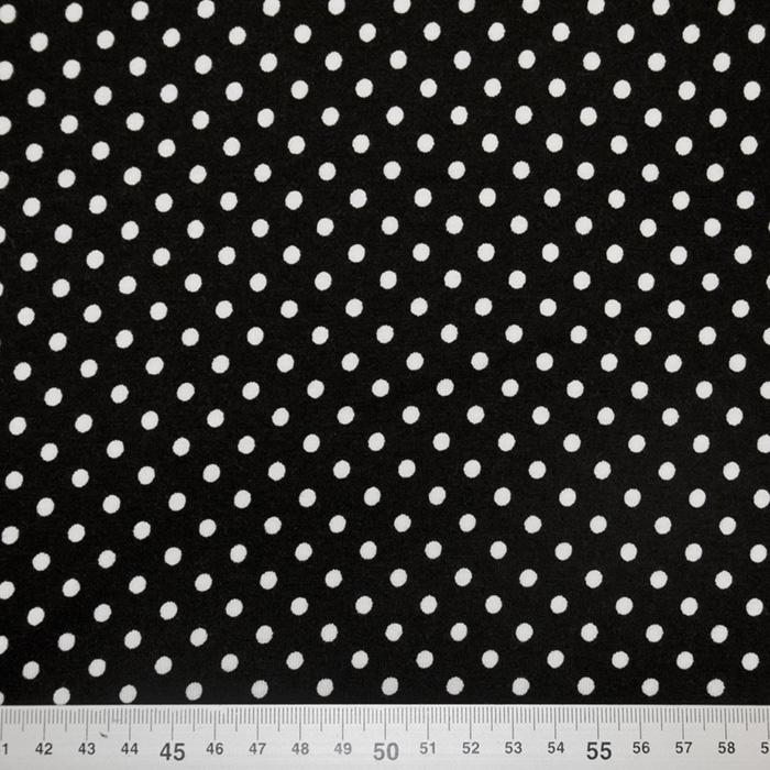 Jersey, viskoza, pike, 19174-069, črno bela