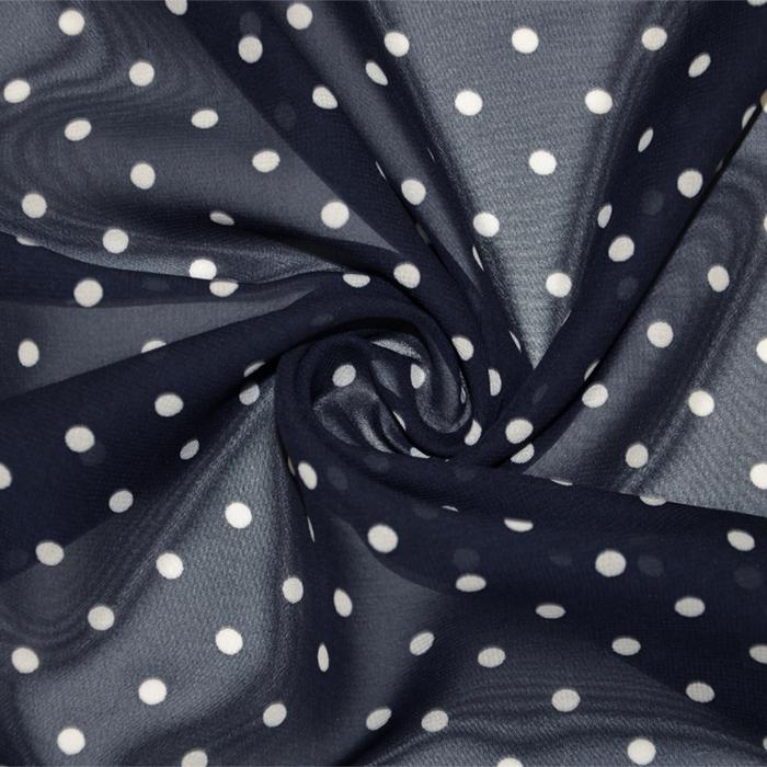 Šifon, poliester, pike, 19329-008, temno modra