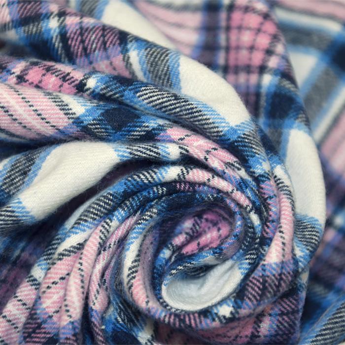 Flanela, kare, 19068-002, modro roza