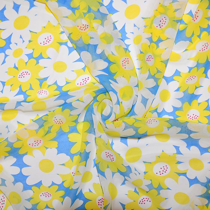 Šifon, poliester, cvetlični, 19546-5