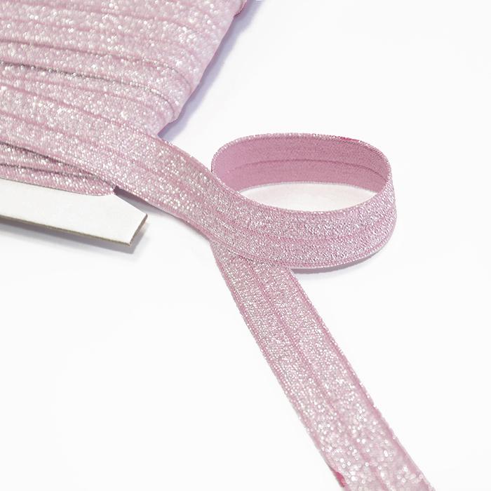 Elastika, obrobna glitter, 16200-31310, roza