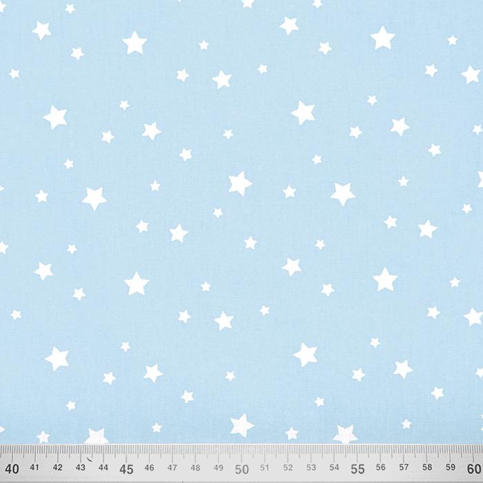 Bombaž, poplin, zvezde, 15933-7, modra