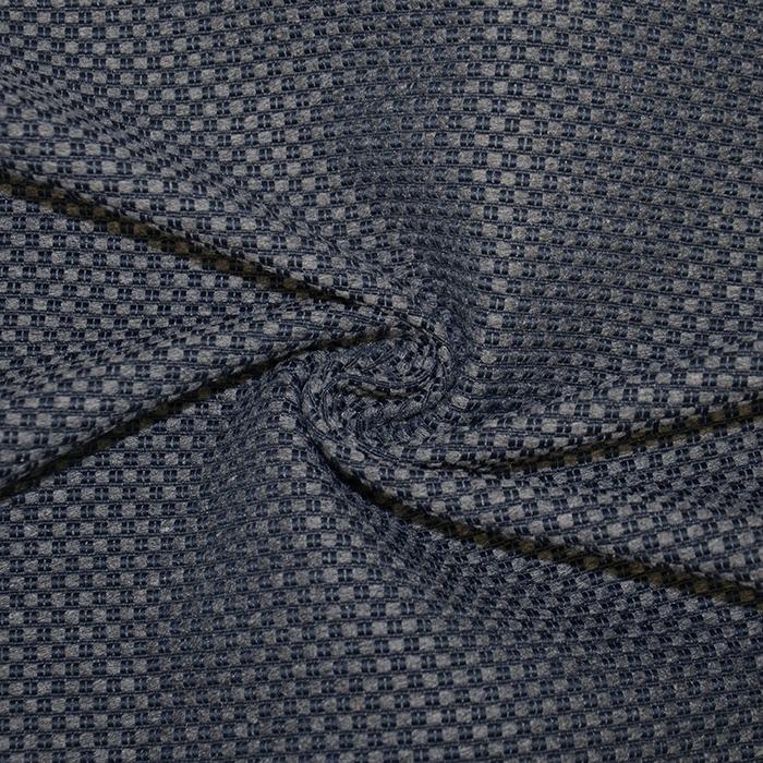 Deko žakard, melanž, 19633-602, temno modra