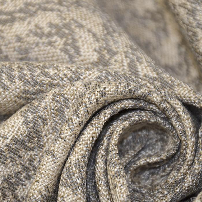 Deko žakard, geometrijski, 19641-004 bež siva