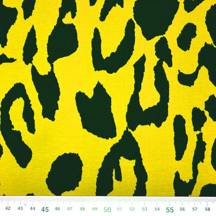 Jersey, bombaž, živalski, 19646-035, rumena