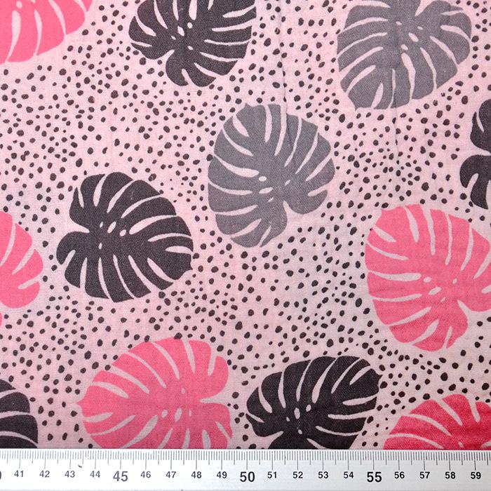 Tetra tkanina, dvojna, narava, 19660-005, sivo roza