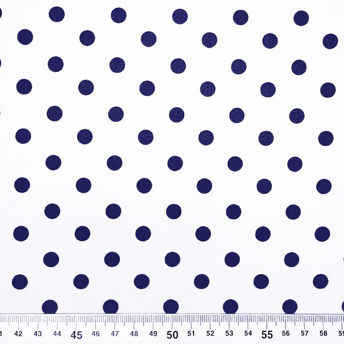 Bombaž, poplin, pike, 17952-102, modro bela