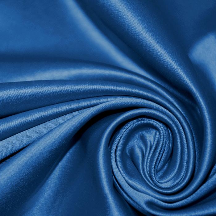 Saten, bombaž, poliester, 19700-005, modra