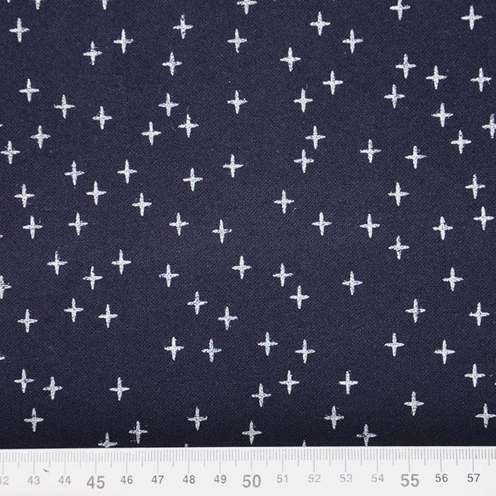 Flanela, bombaž, geometrijski, 19727-008, temno modra